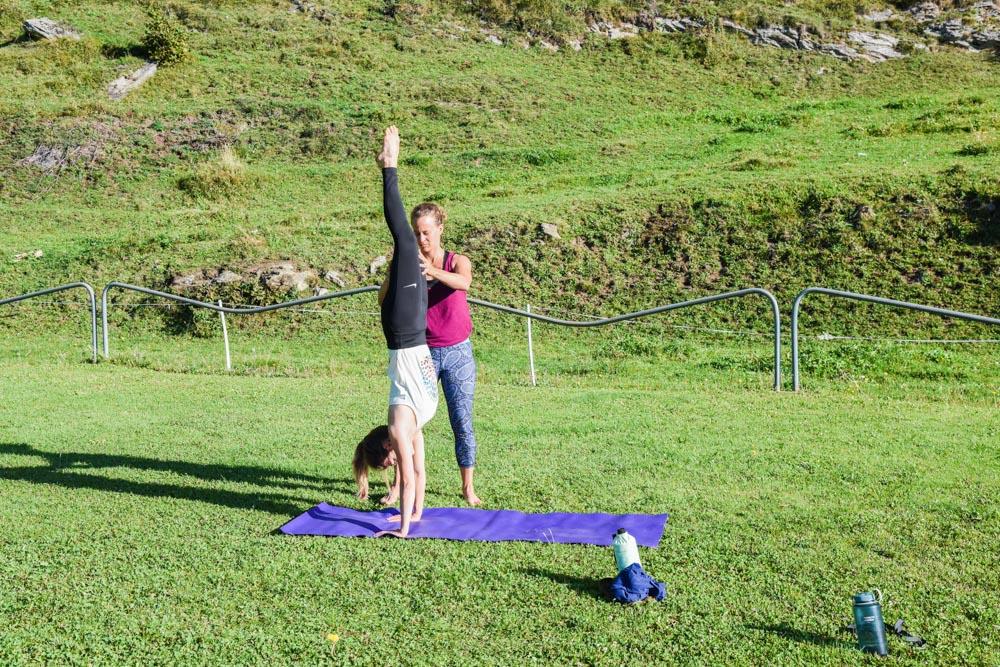Yoga und Bouldern Tessin