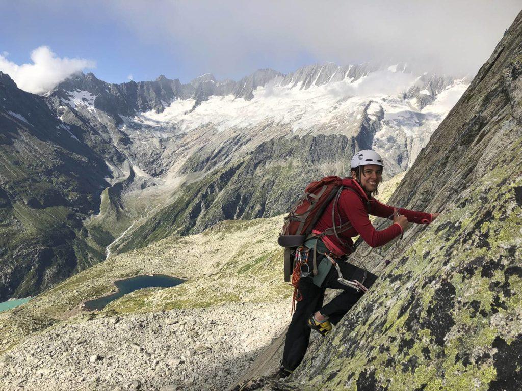Alpines Mehrseillängen-Klettern im zentralschweizer Granit